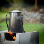 Making Cowboy Coffee On The Rocket Stove