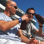 Daniel Saint-Pierre and Stephan Trontin toasting at Daytona International Speedway, February 2011