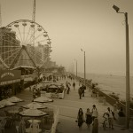 Daytona Beach Boardwalk, Sepia Tone, February 2011