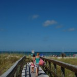 Memorial Day 2011, St Pete Beach, Walkway to the Beach