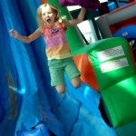 Grace Jumping Off Slide at MOSI