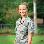 Grace St.Pierre In Her ABU Civil Air Patrol Uniform